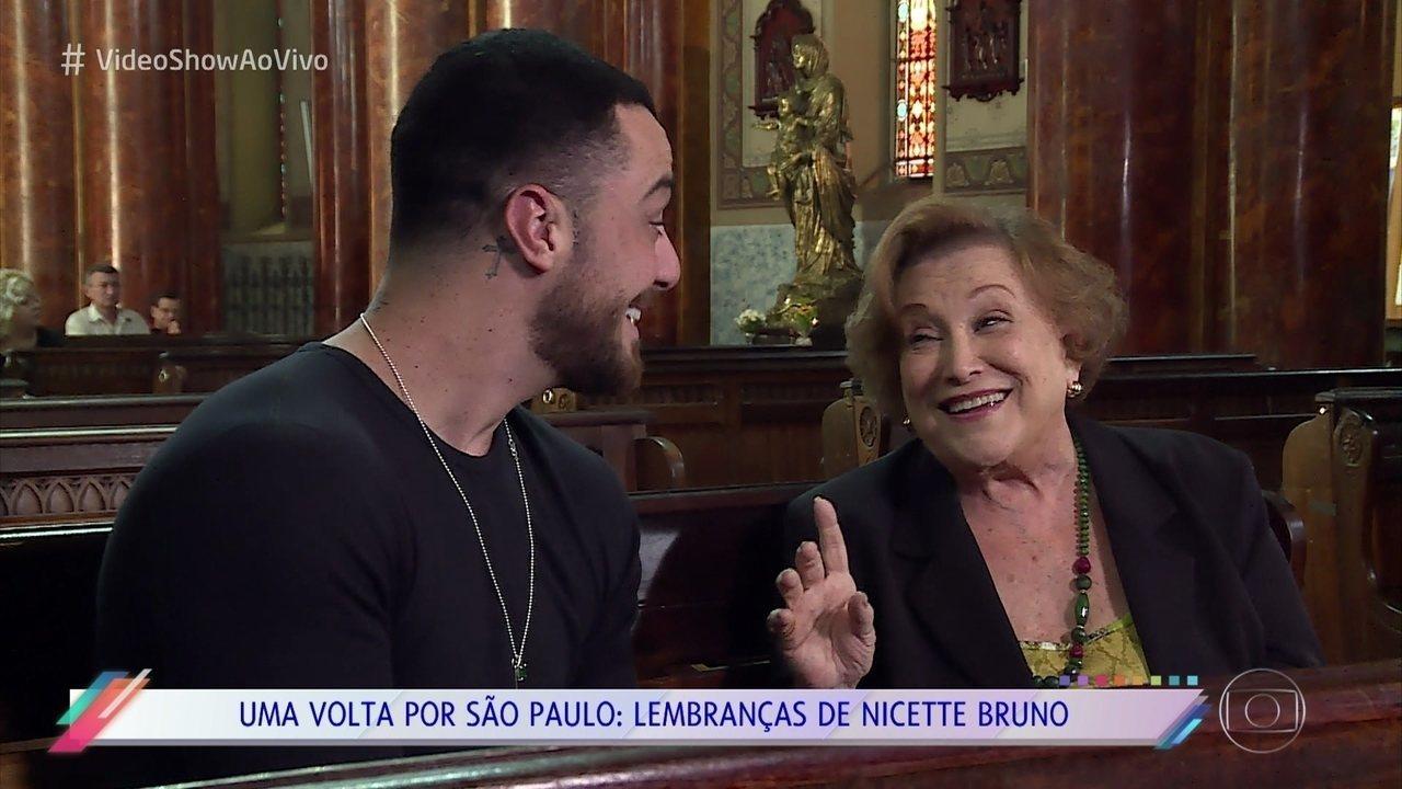 Nicette Bruno passeia por São Paulo e conta suas memórias da cidade