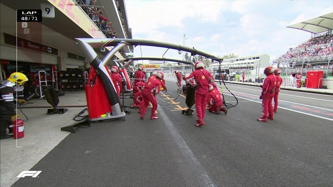 Vettel vai para os boxes no GP do México