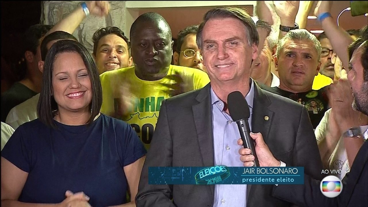 Jair Bolsonaro (PSL) faz primeiro discurso como presidente eleito