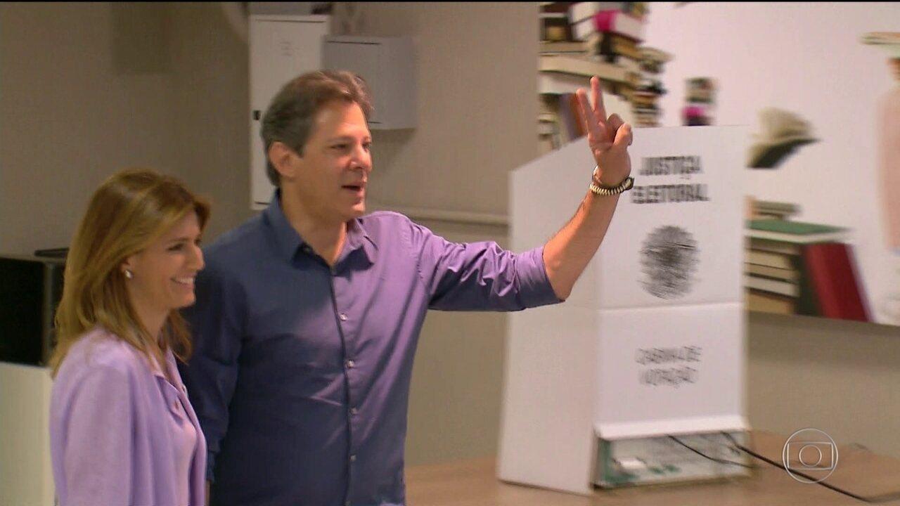 Veja como foi o dia de votação de Fernando Haddad (PT)