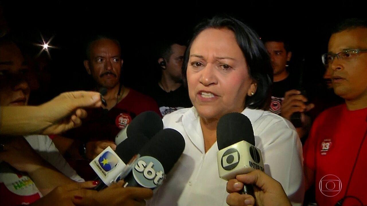 Fátima Bezerra (PT) é eleita governadora do Rio Grande do Norte