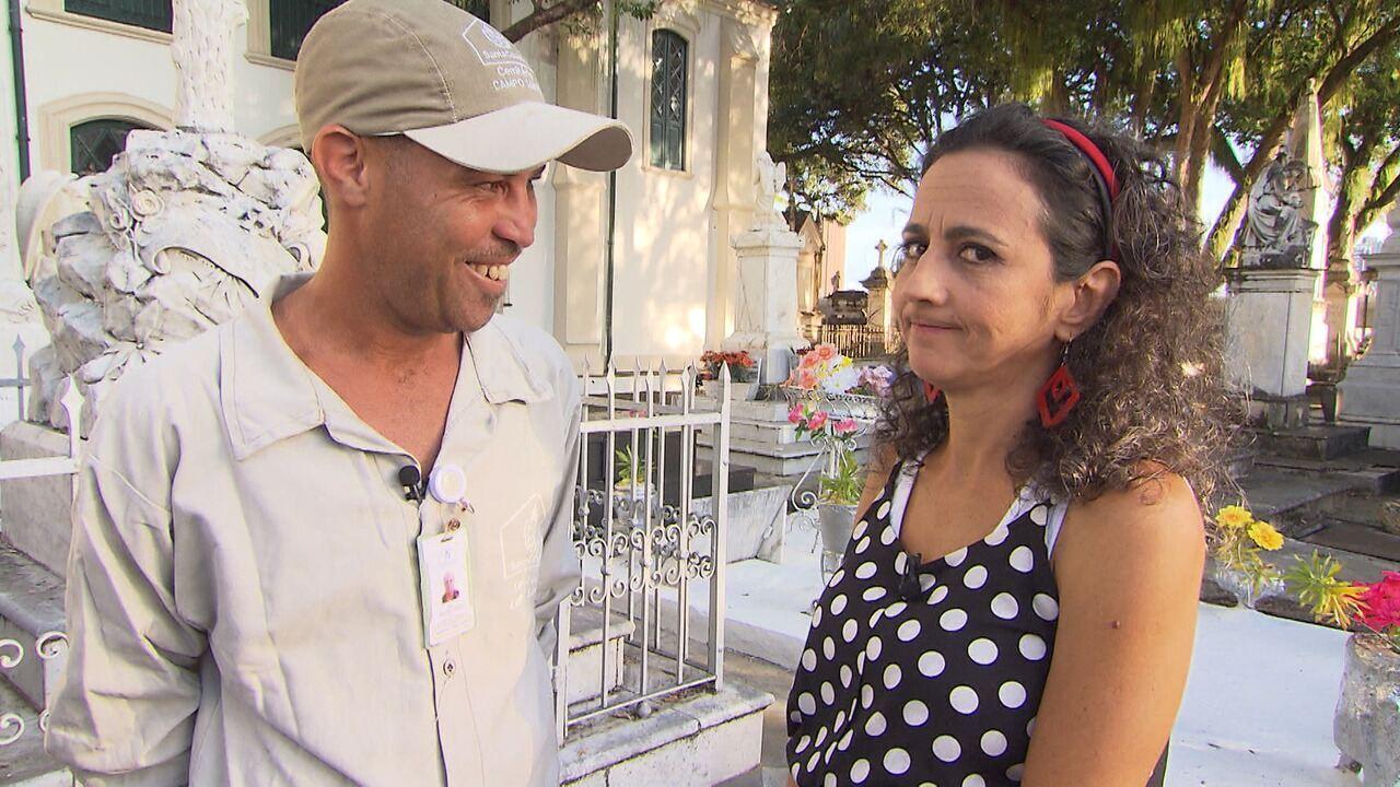 Maria Menezes investiga o mundo pitoresco da morte e visita um cemitério