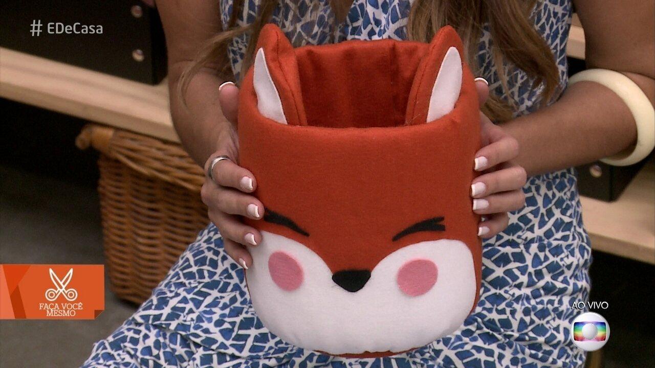 Saiba como fazer um cachepô de raposa para decorar o quarto