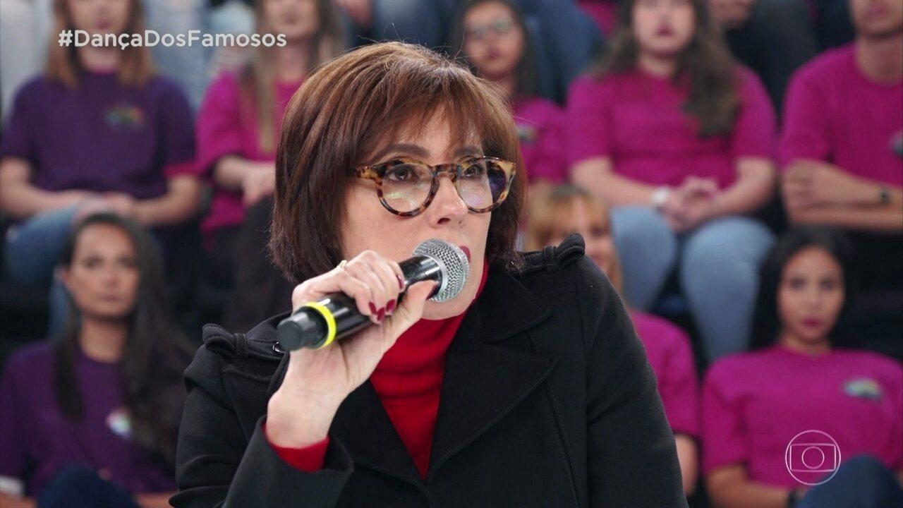 Christiane Torloni comenta apresentação de Fiuk e Erica Rodrigues