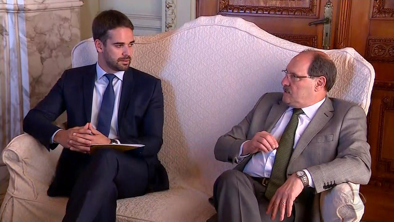 José Ivo Sartori e Eduardo Leite fazem primeira reunião de transição do governo do RS