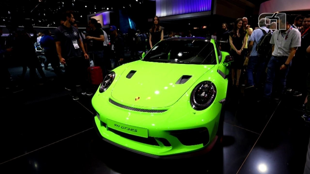 Salão do Automóvel 2018: Porsche traz do esportivo 911 GT3 RS ao lendário 356