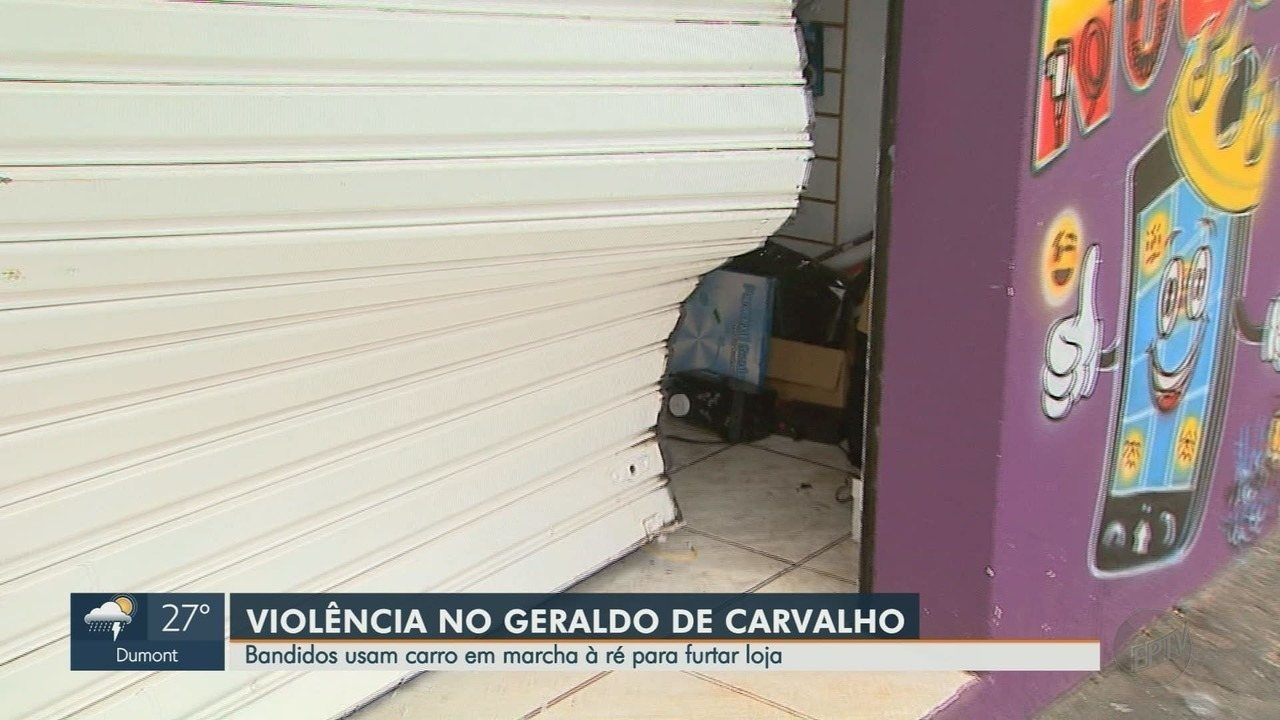 Loja é furtada após ser invadida com carro em marcha à ré em Ribeirão Preto
