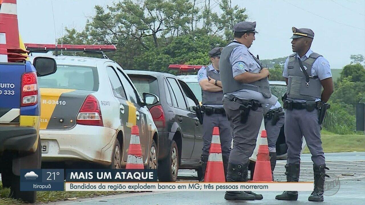 Quadrilha da região de Ribeirão Preto, SP, explode banco em Frutal, MG