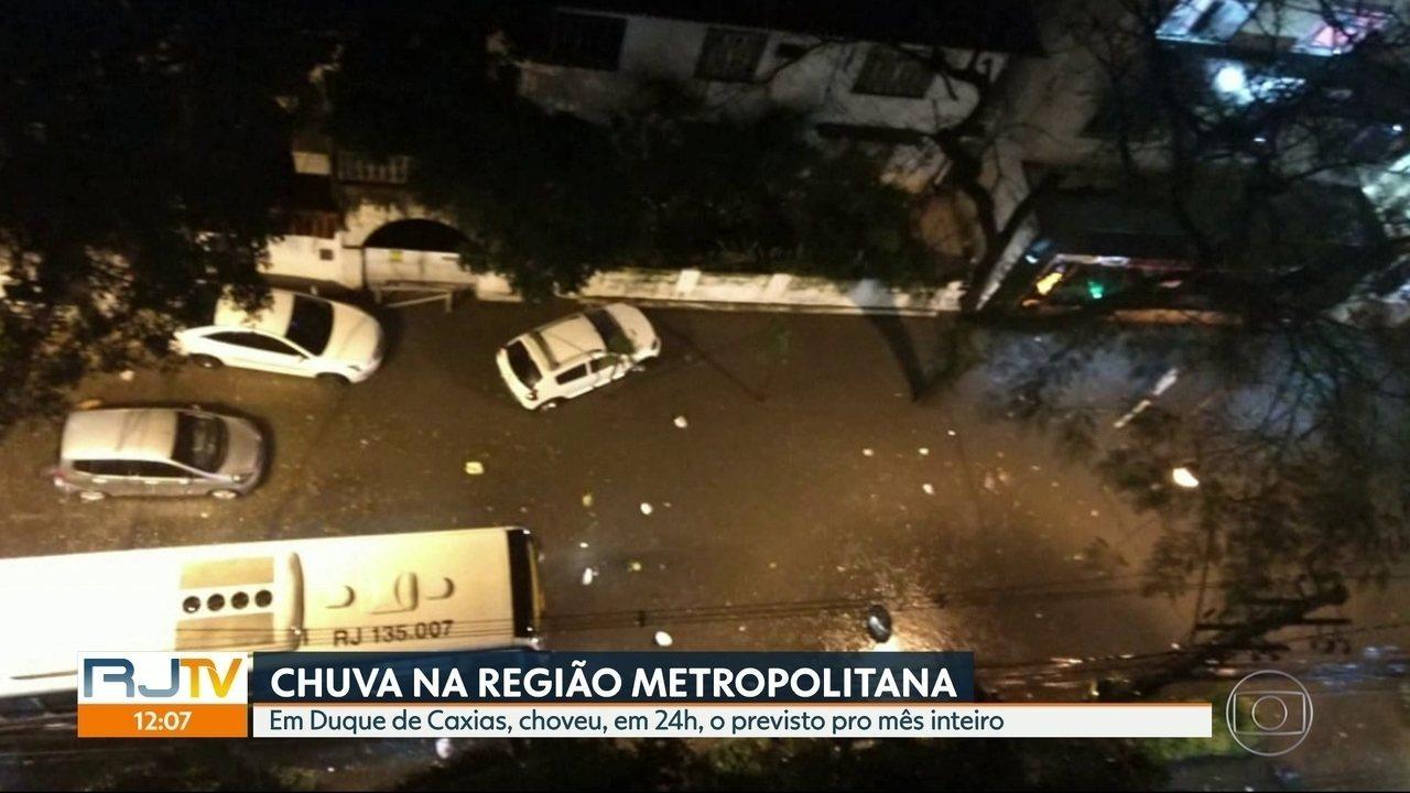 Chuva forte atingiu vários municípios da Região Metropolitana do Rio