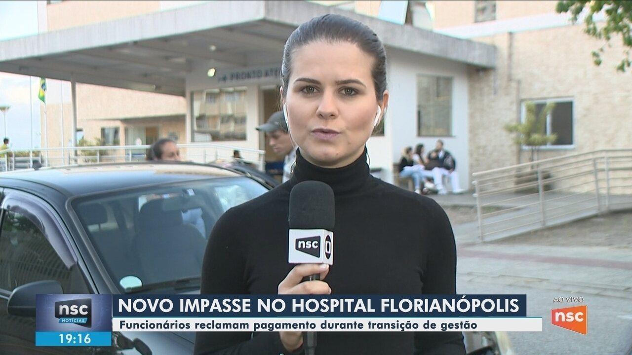 Funcionários do Hospital Florianópolis questionam falta de pagamento