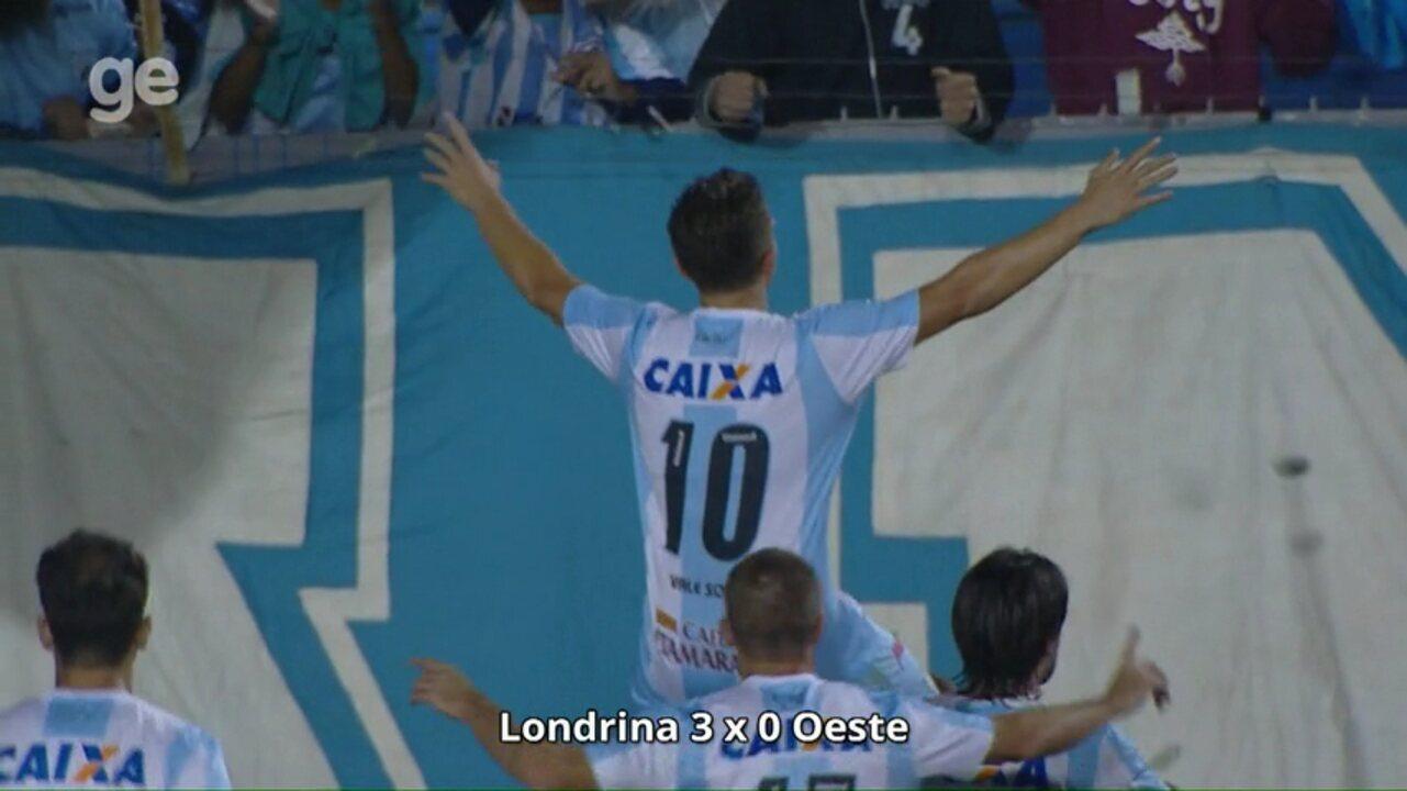 09f8c86dda Confira os 16 gols marcados por Dagoberto com a camisa do Londrina na Série  B