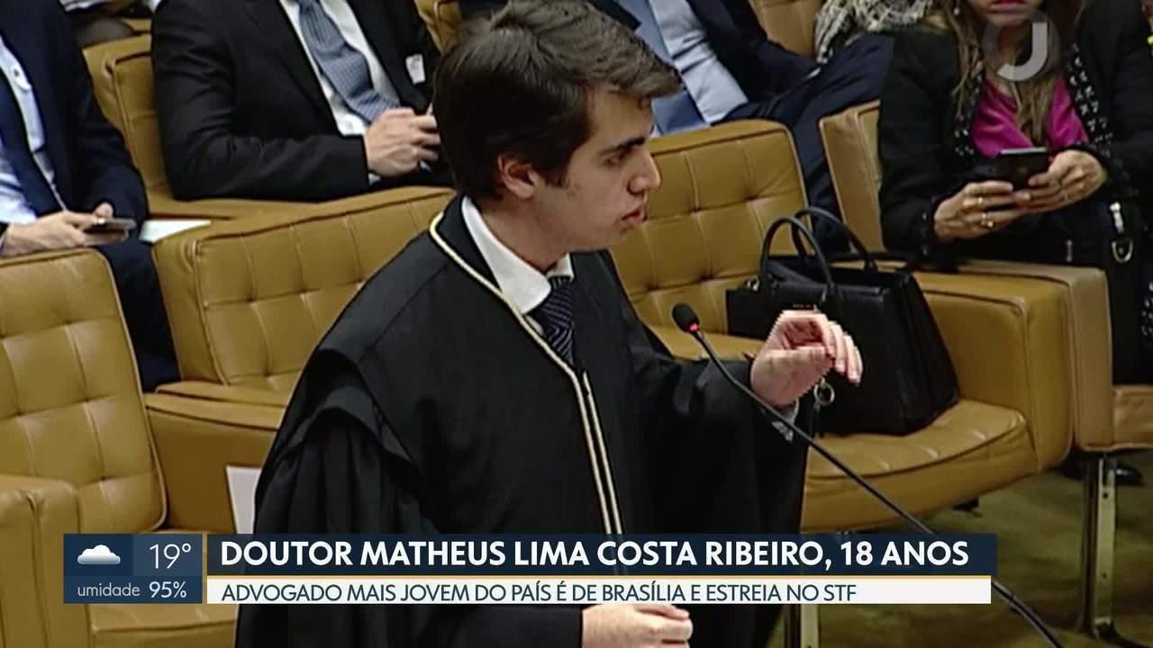 Advogado mais jovem do país a defender uma tese no STF estreia na tribuna e recebe elogios