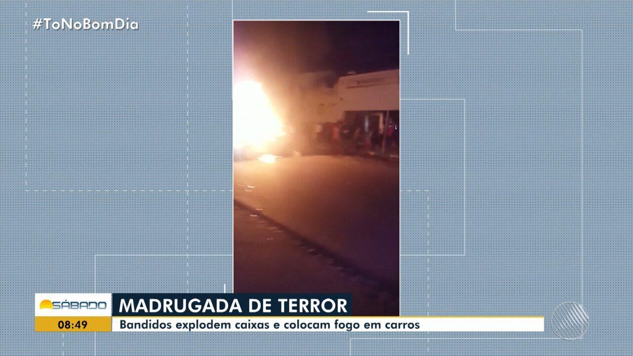 Bandidos explodem caixas eletrônicos em Conceição da Feira
