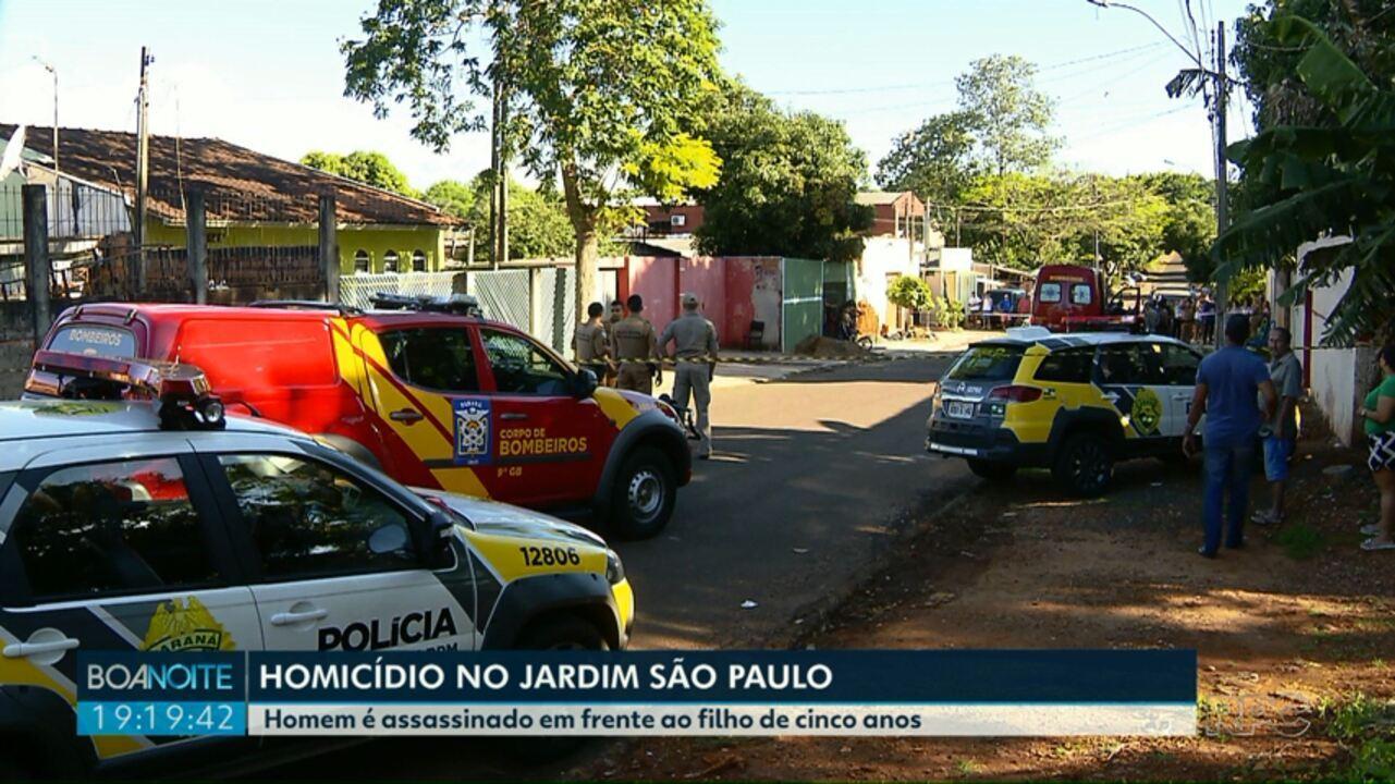 Homem é assassinado em frente ao filho de cinco anos no Jardim São Paulo