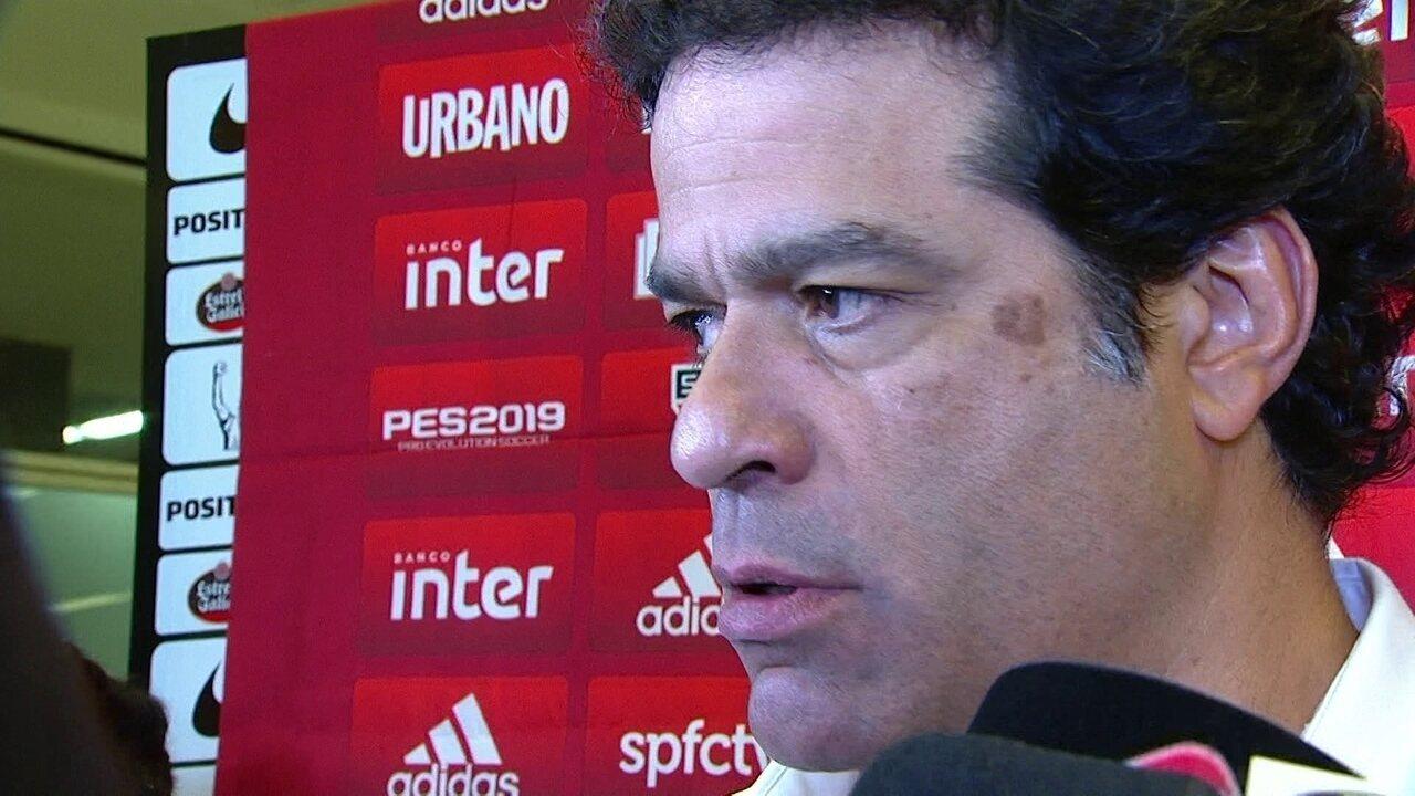 Assista a entrevista de Raí, diretor de futebol do São Paulo, após empate com Corinthians