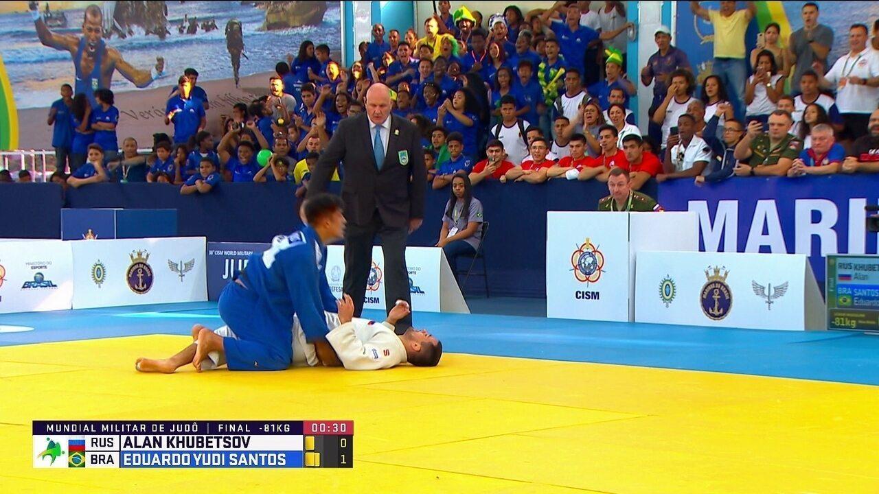 Eduardo Yudi vence russo e leva o ouro nas 81kg do Mundial Militar de judô