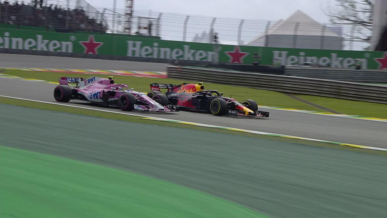 Confira o acidente entre Verstappen e Ocon por outro ângulo