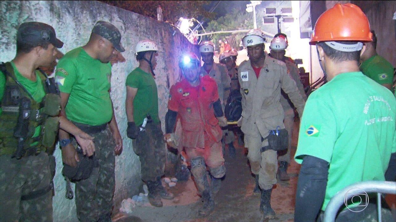Duas pessoas continuam internadas após deslizamento em Niterói, no Rio