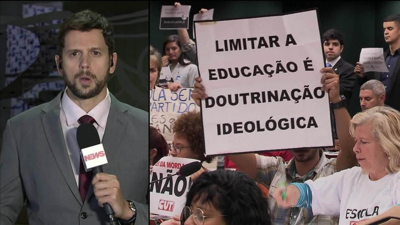 Comissão da Câmara analisa projeto 'Escola sem Partido'