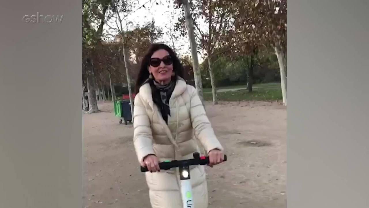 Fátima se diverte em Paris