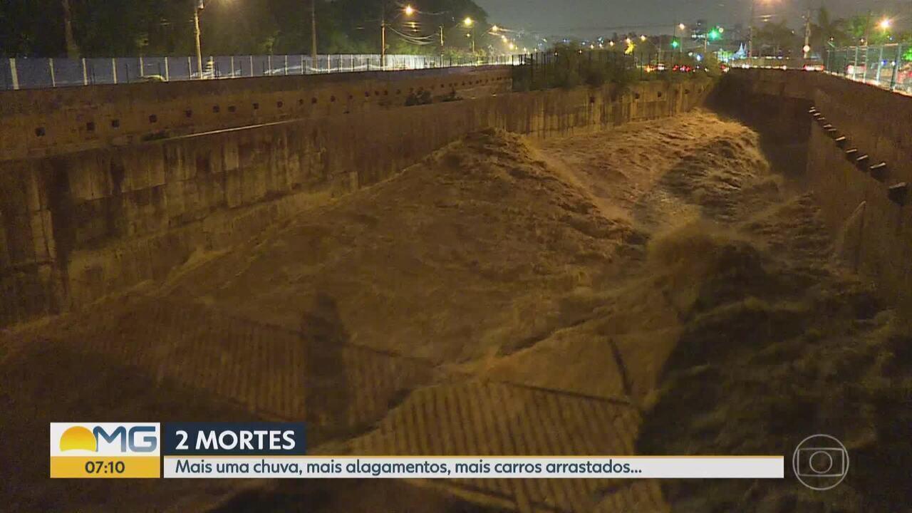 Duas pessoas morrem e uma desaparece após temporal em Belo Horizonte