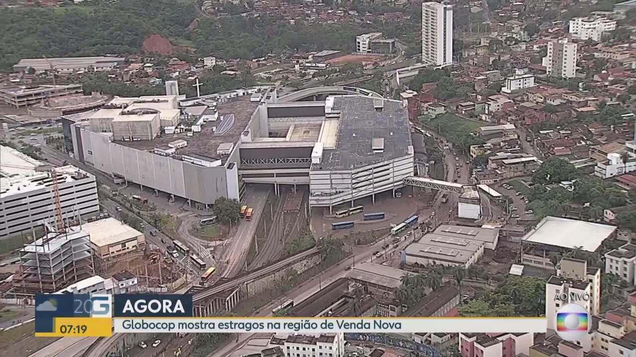 Estação Vilarinho é fechada após temporal que atingiu Belo Horizonte