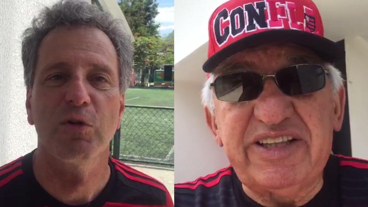 Eleição polarizada movimenta Flamengo, e Landim e vice de Lomba confiam na vitória nas urnas no próximo dia 8 de dezembro