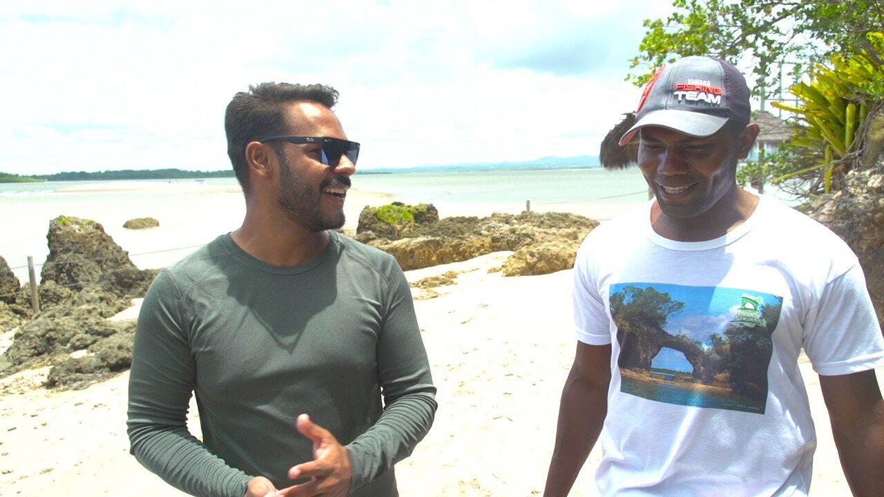 Pablo Vasconcelos faz um passeio pelas ilhas da Baía de Camamu