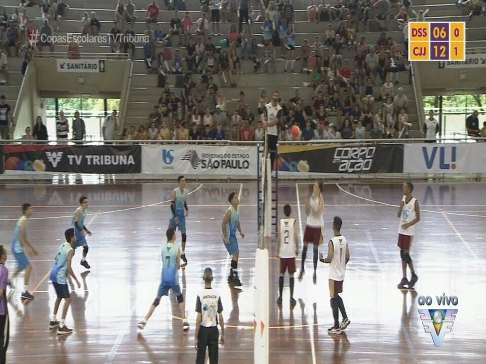 Confira como foi a final masculina da Copa TV Tribuna de Vôlei Escolar