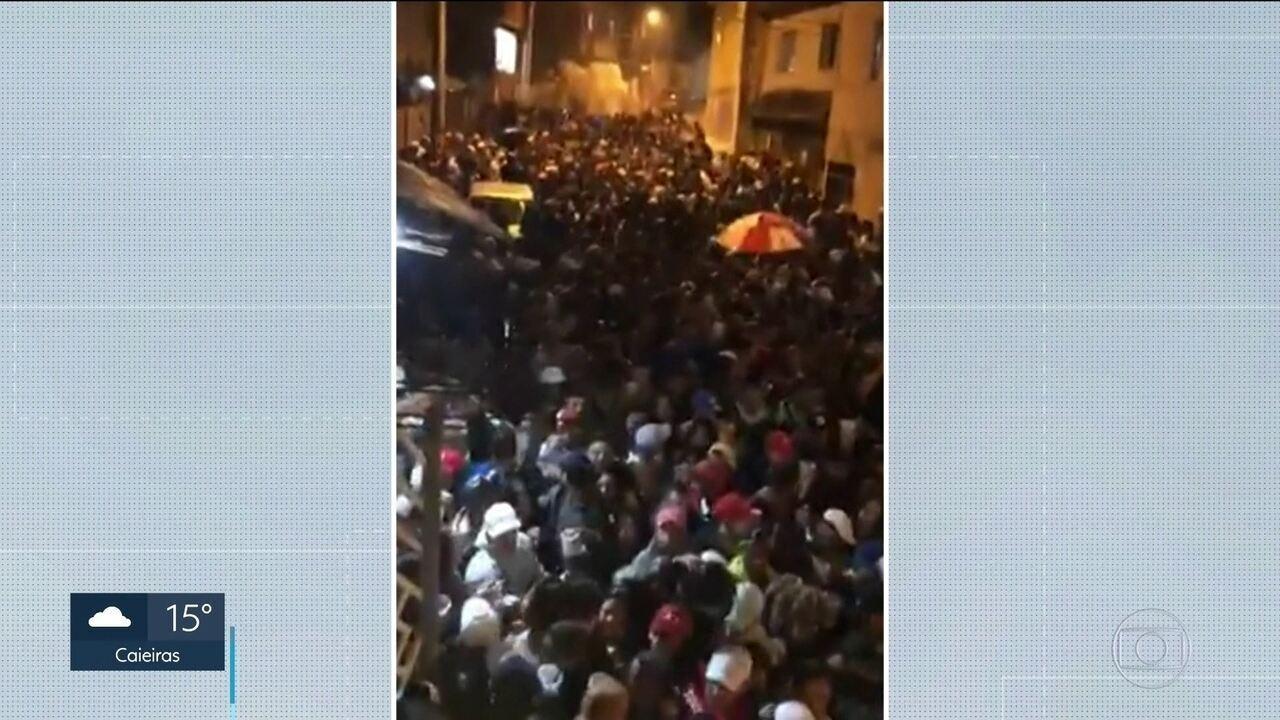 Três pessoas morreram pisoteadas após tumulto em baile funk em Guarulhos