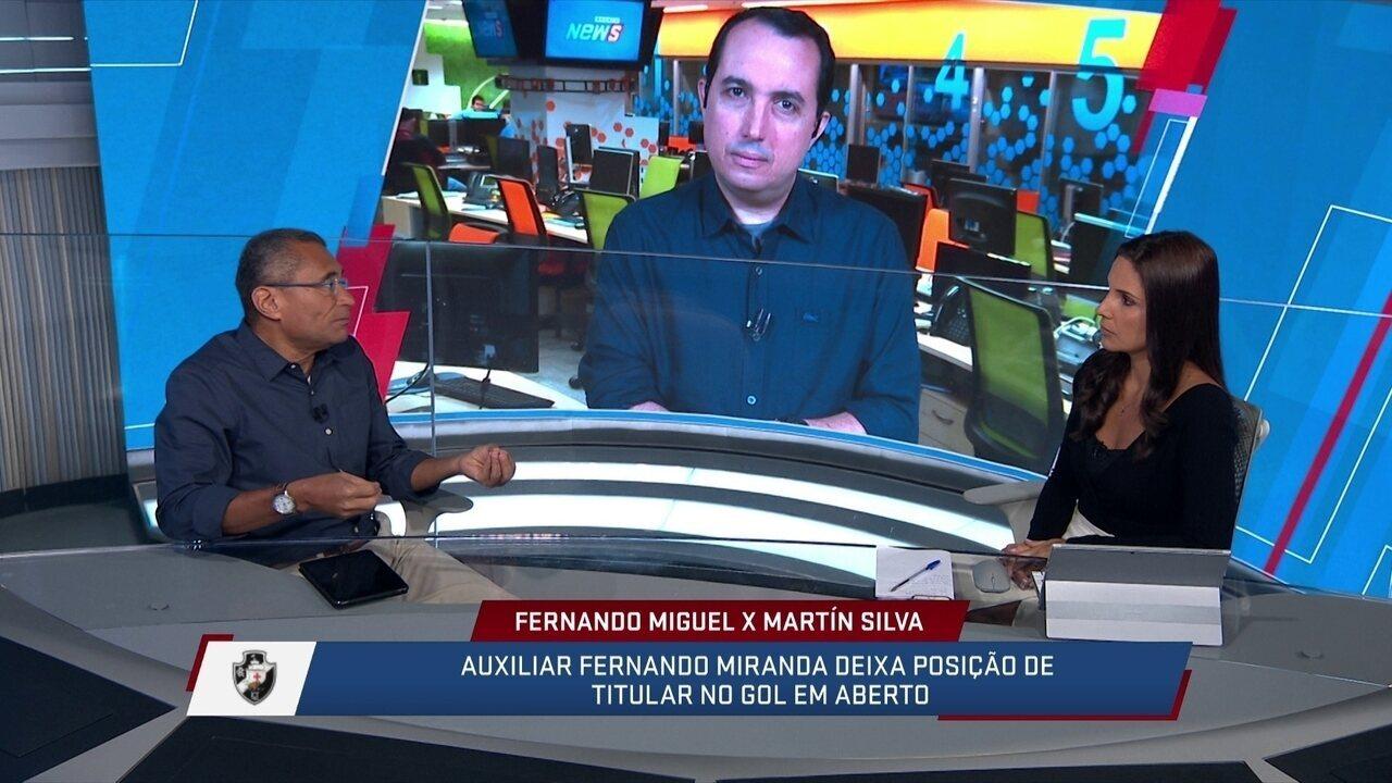 SportvNews compara desempenho de Martín Silva e Fernando Miguel