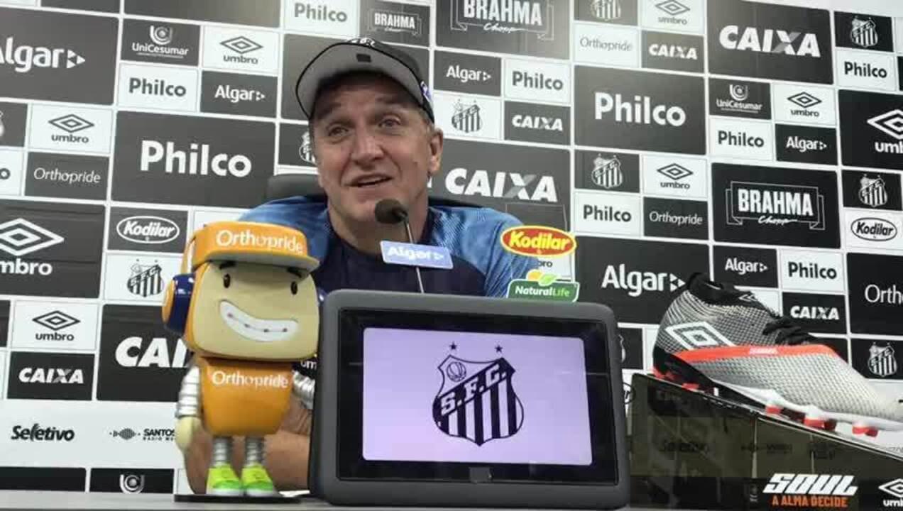 Técnico do Santos, Cuca fala sobre seu problema de saúde