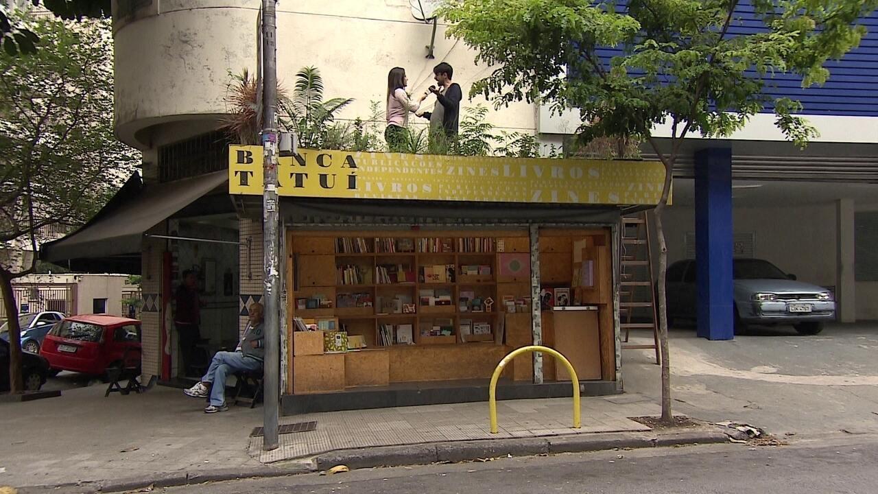 Empresários transformam bancas de jornal em pequenas livrarias e espaços de cultura