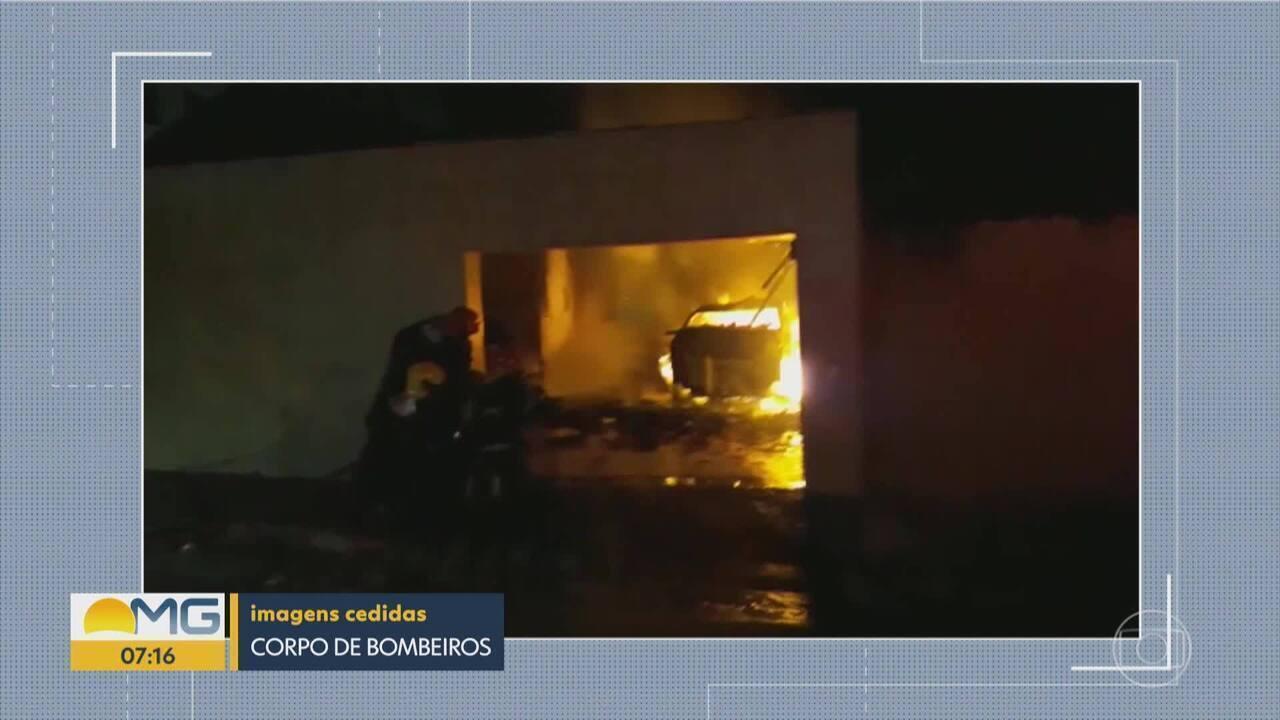 Incêndio atinge garagem de casa na Região de Venda Nova, em BH