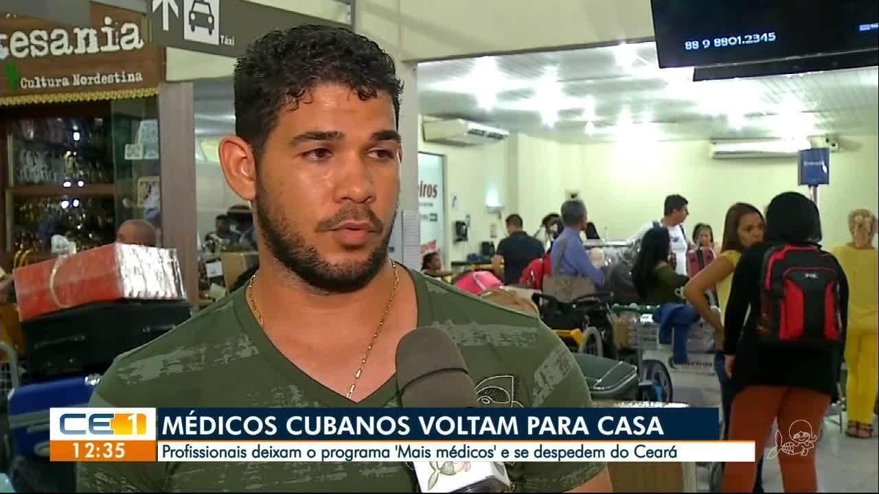 Médicos cubanos se despedem no Ceará após fim de acordo