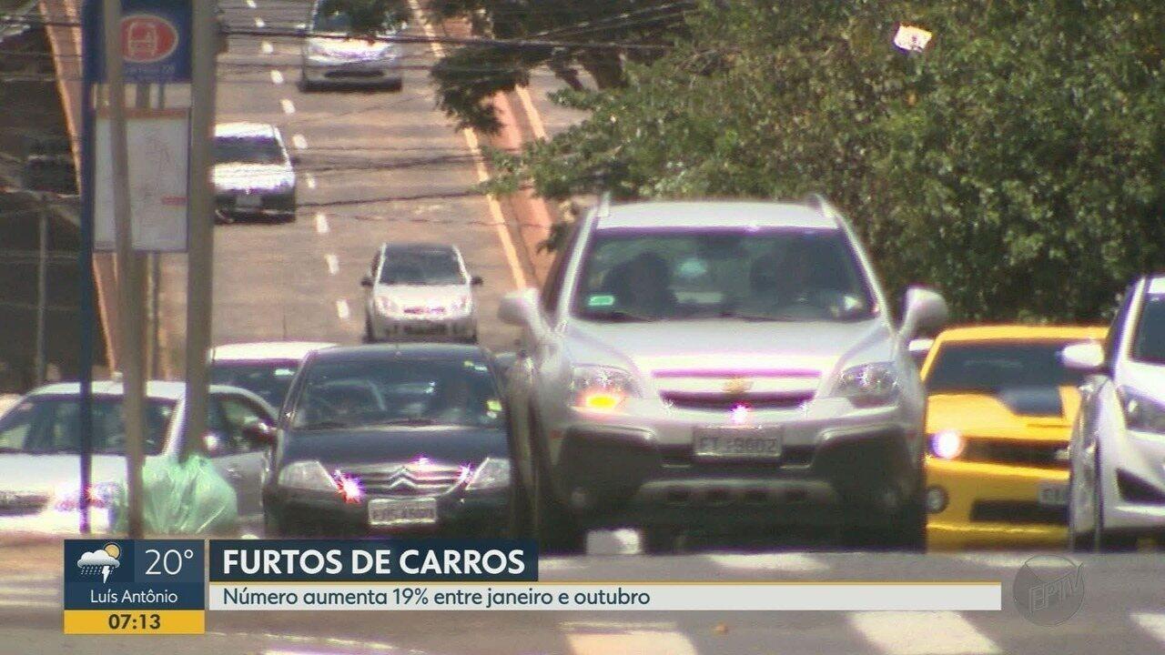 Números de furto de carros e assassinatos crescem em Ribeirão Preto, aponta SSP