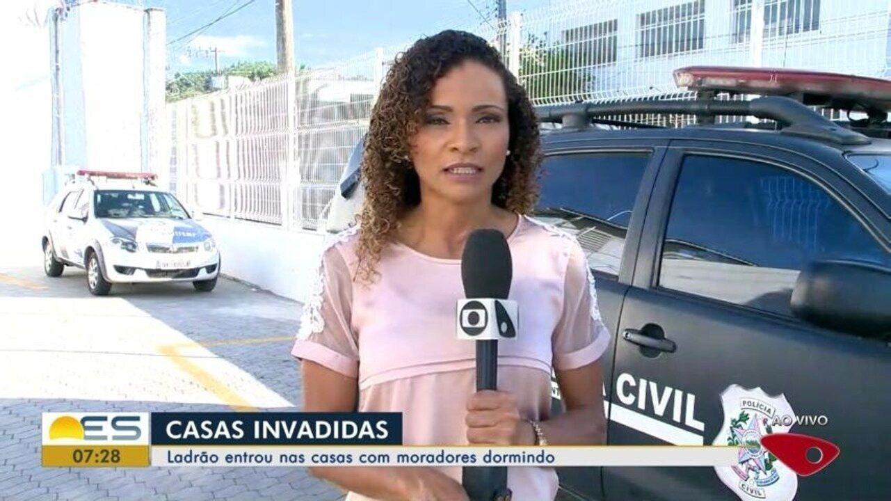 Criminoso invade casas para cometer furtos enquanto moradores dormiam em Vila Velha, ES