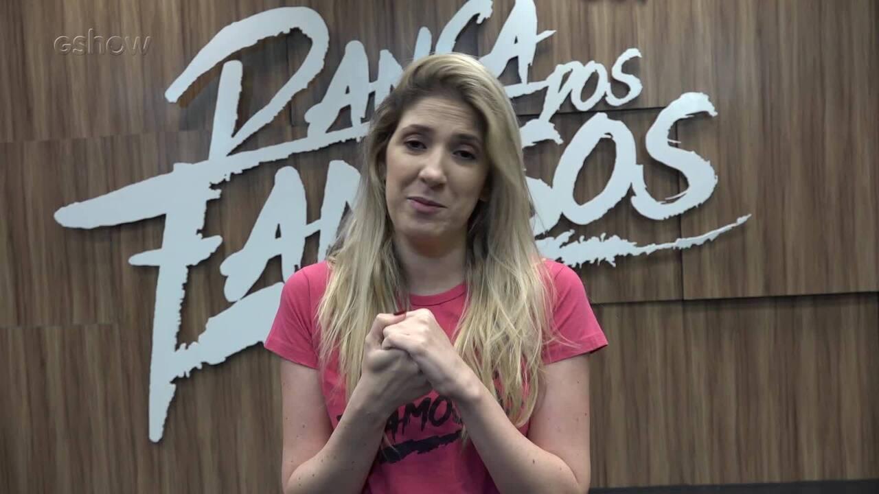 Dani Calabresa fala sobre sua expectativa para a semifinal do 'Dança dos Famosos'