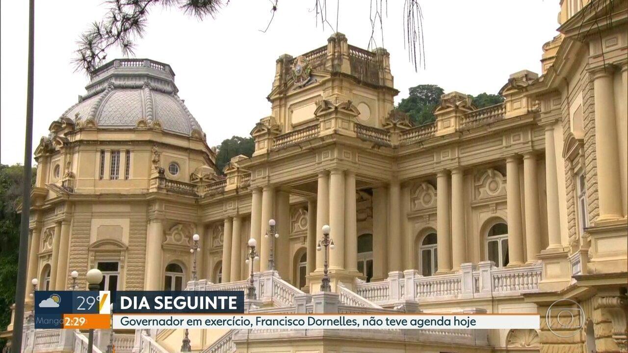 Governador em exercício, Francisco Dornelles, não teve agenda nesta sexta
