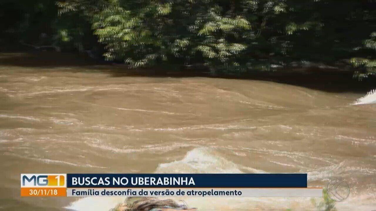 Ciclista segue desaparecido e bombeiros retomam as buscas no Rio Uberabinha