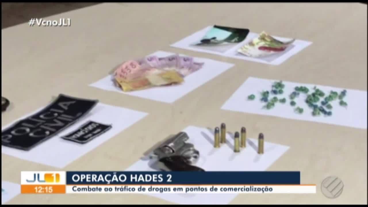 Operação Hades II de combate ao tráfico de drogas cumpre mandados em todo o Estado