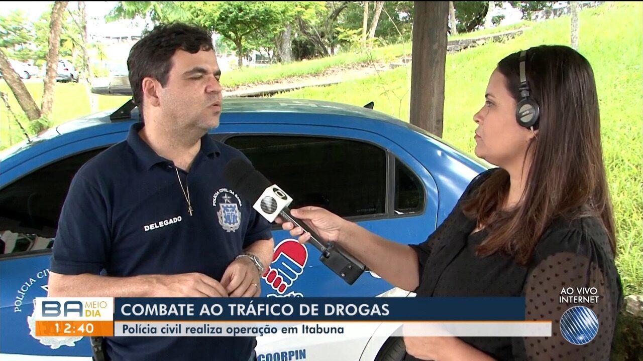 Polícia faz operação que combate tráfico de drogas em Itabuna
