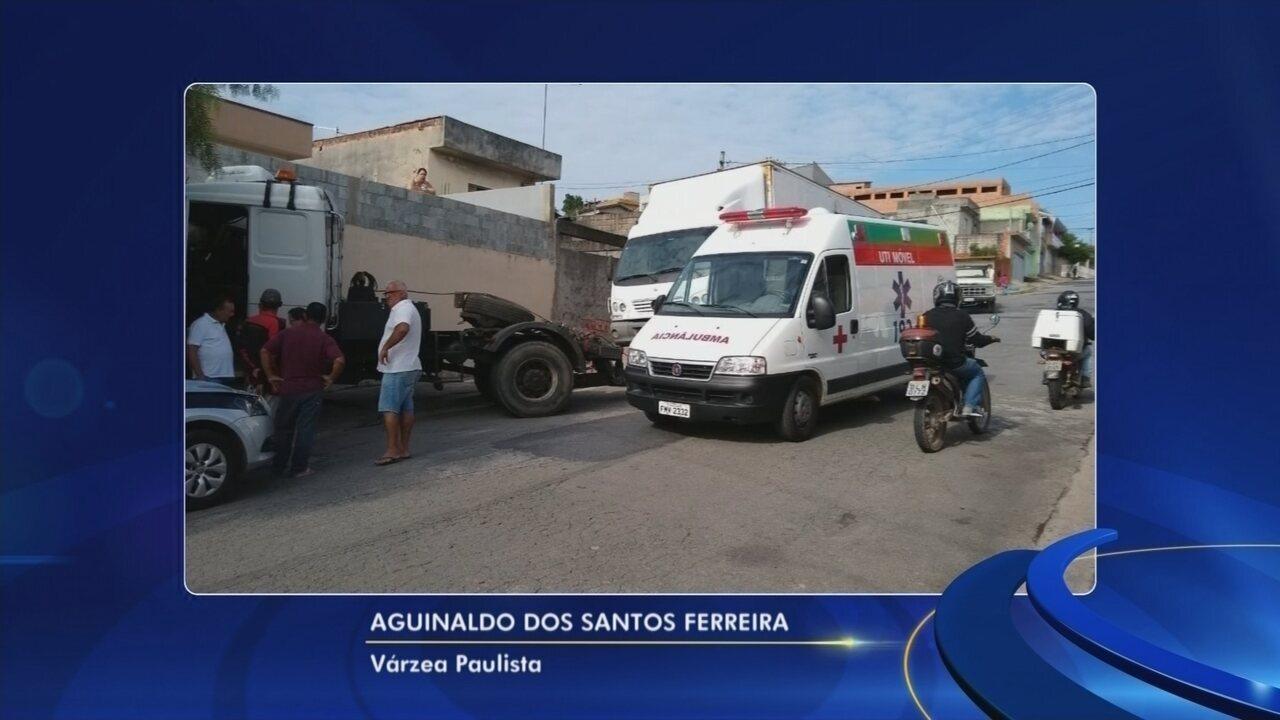Motorista de guincho é atropelado durante reboque de caminhão em Várzea Paulista