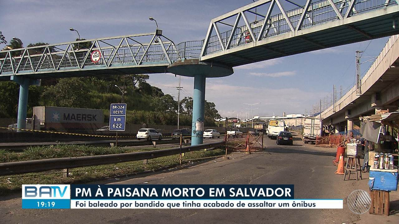 Polícial é morto por bandido durante confronto na BR-324, em Salvador