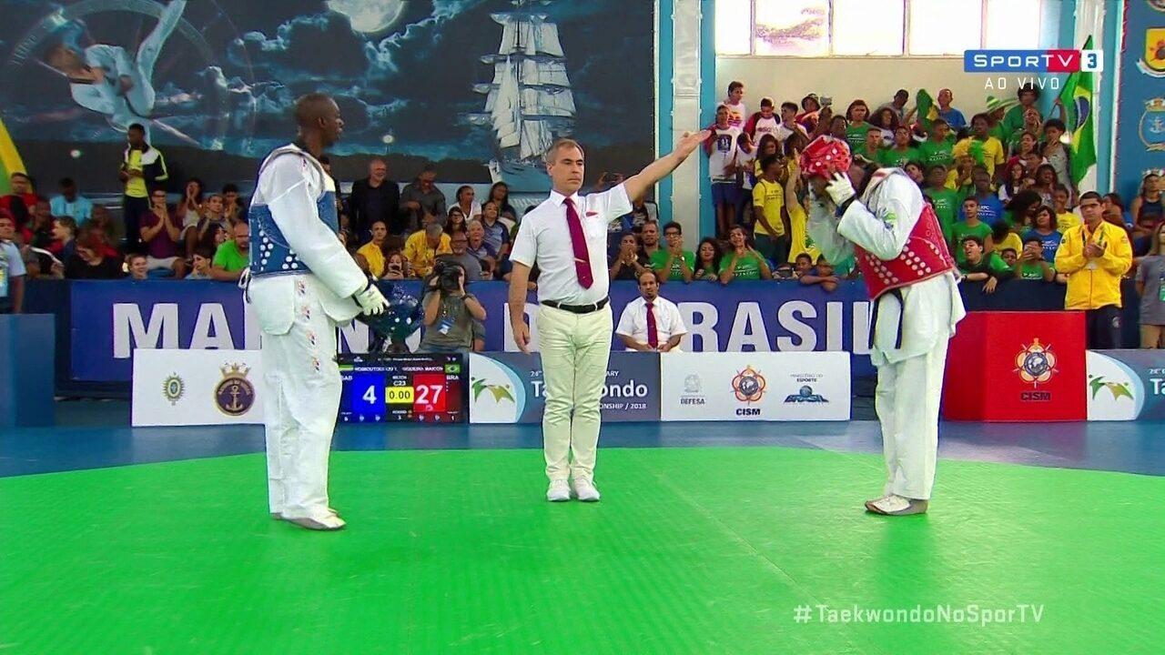 Maicon Siqueira vence atleta do Gabão e conquista o bronze no Mundial Militar de taekwondo