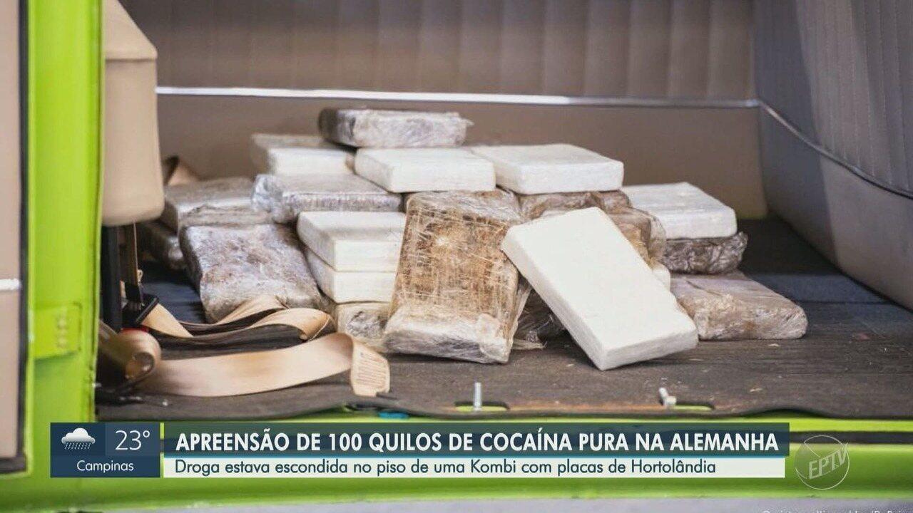 Kombi com placa de Hortolândia é apreendida com 100kg de cocaína em Hamburgo, Alemanha