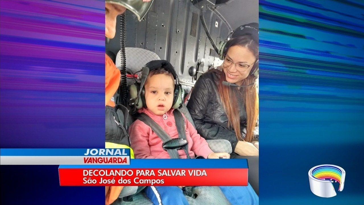 Ao ver filho faltar a tratamento, pai recorre à PM e Águia leva garoto a hospital em SP
