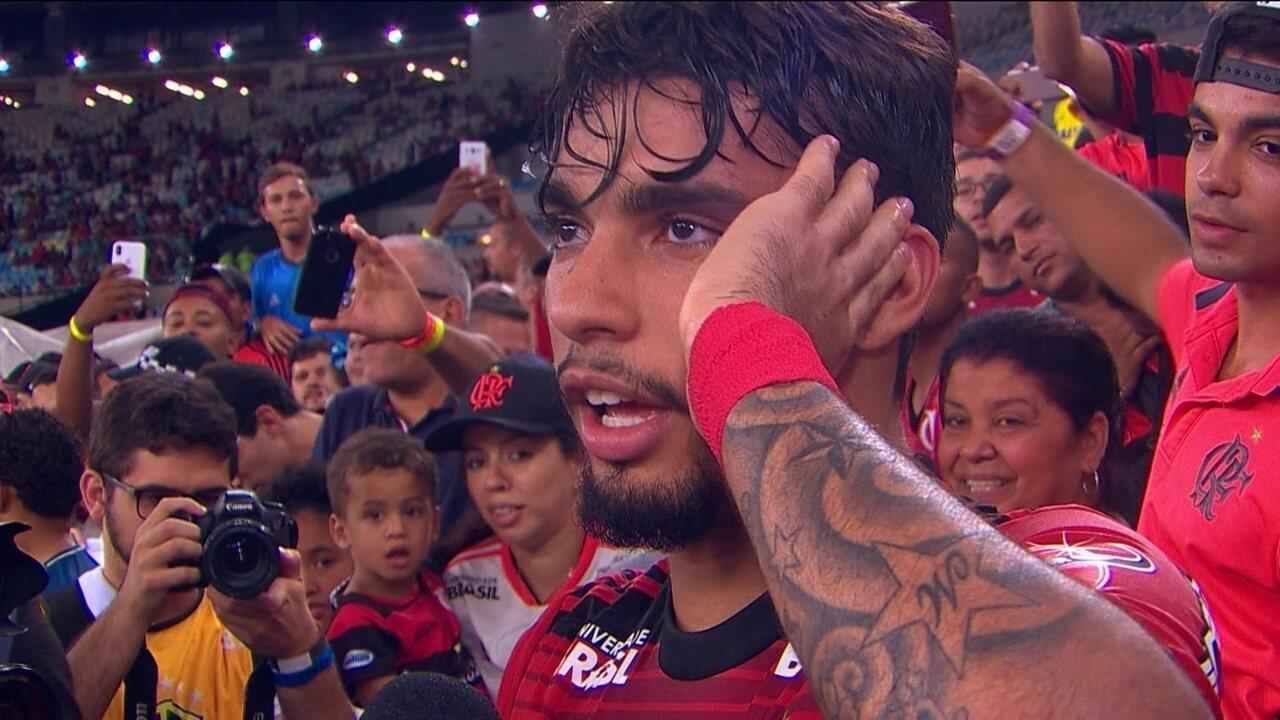 Lucas Paquetá agradece o carinho da torcida e diz que vai seguir com o Fla no coração