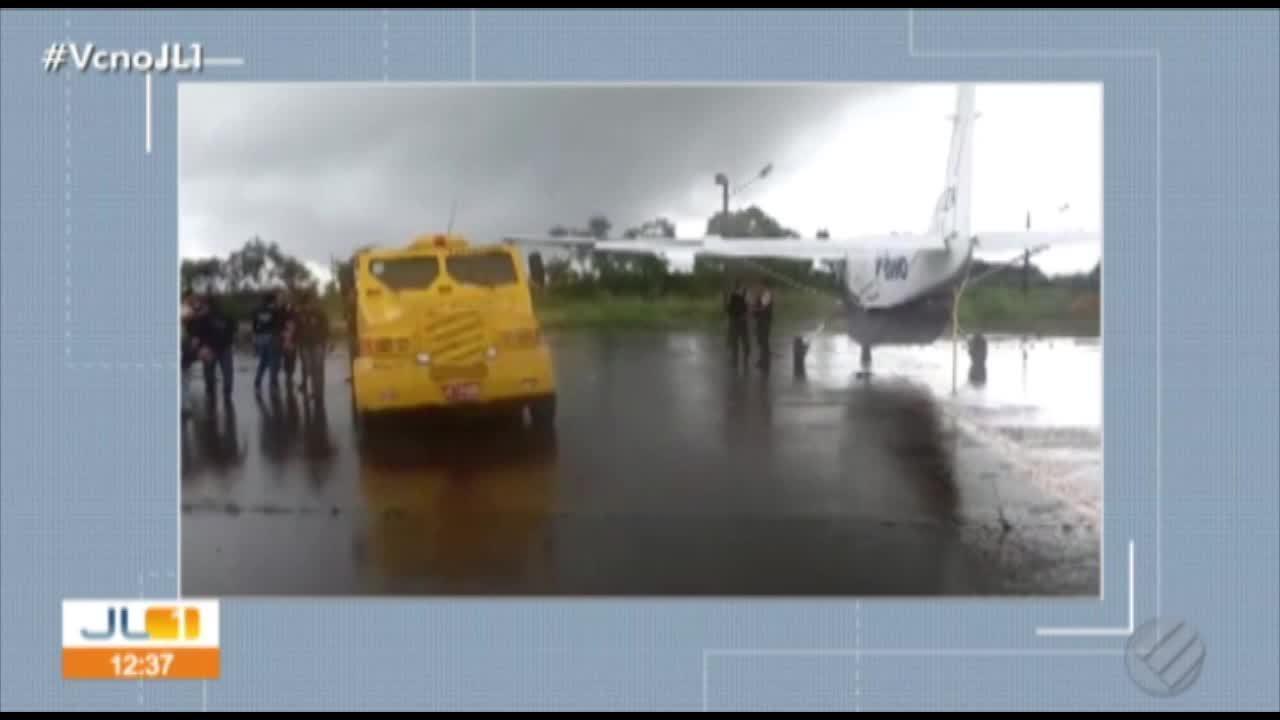 Bandidos assaltaram avião da Prossegur no aeroporto de Tucuruí