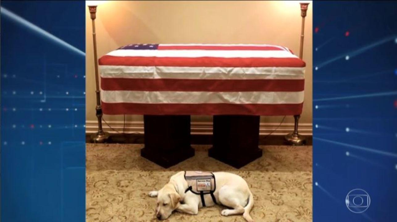 Corpo de ex-presidente Bush chega em Washington para homenagens